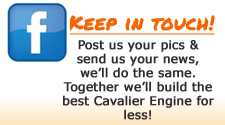 Keep in touch with Chevy Cavalier World on Facebook
